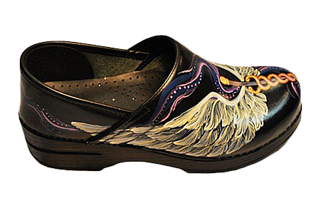 Hand Painted Dansko Medical Wing Clogs