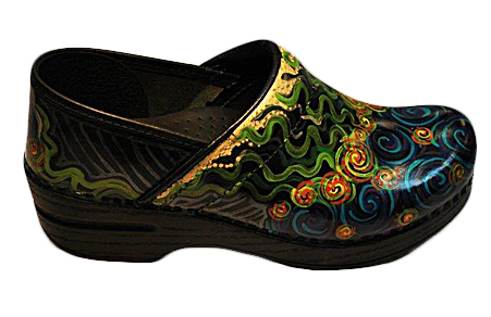 hand painted footwear clogs sandals more