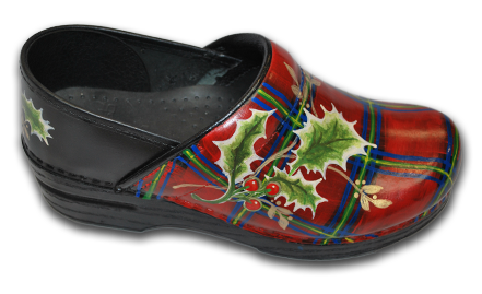 Hand Painted Scottish Plaid Clogs