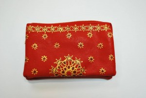 Custom Hand Painted Christmas Style Purse