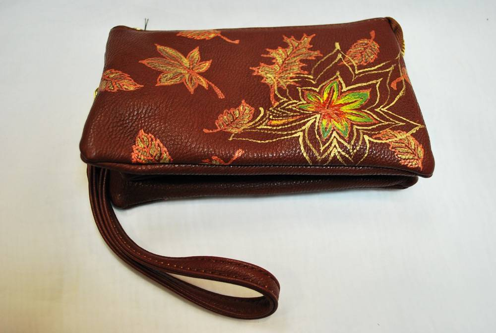 Custom Hand Painted Maple Leaf Fall Purse