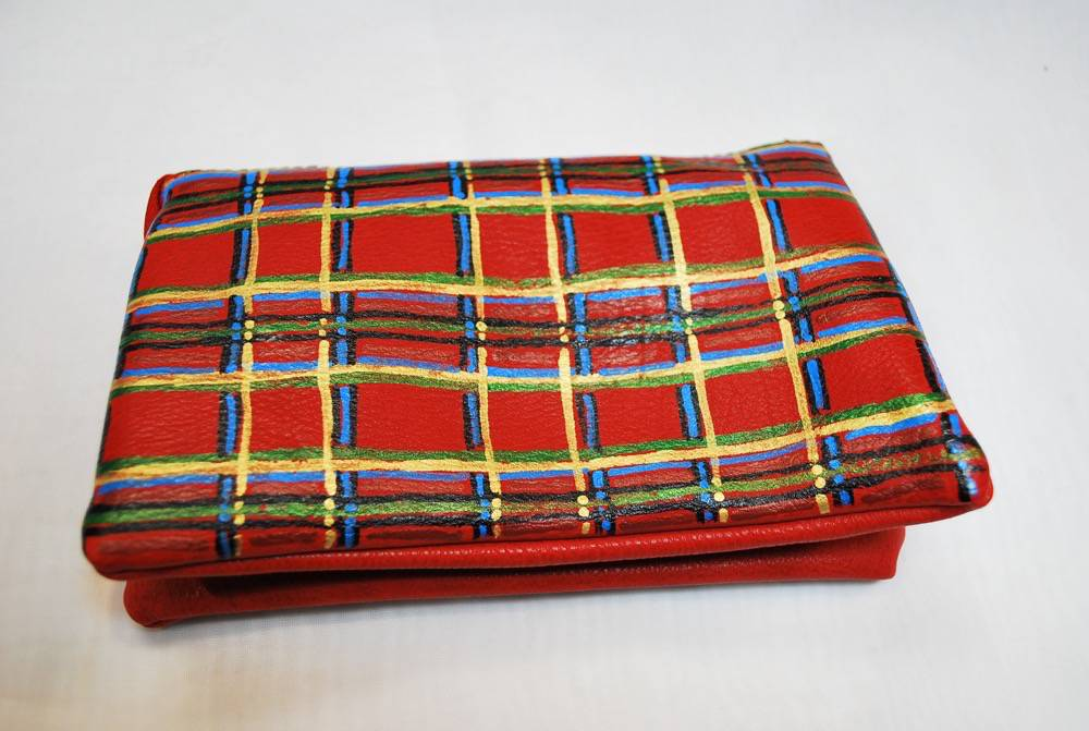 Custom Hand Painted Scottish Plaid Purse