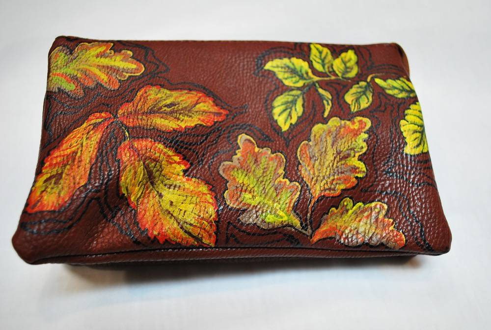 Custom Hand Painted Fall & Leaf Purse