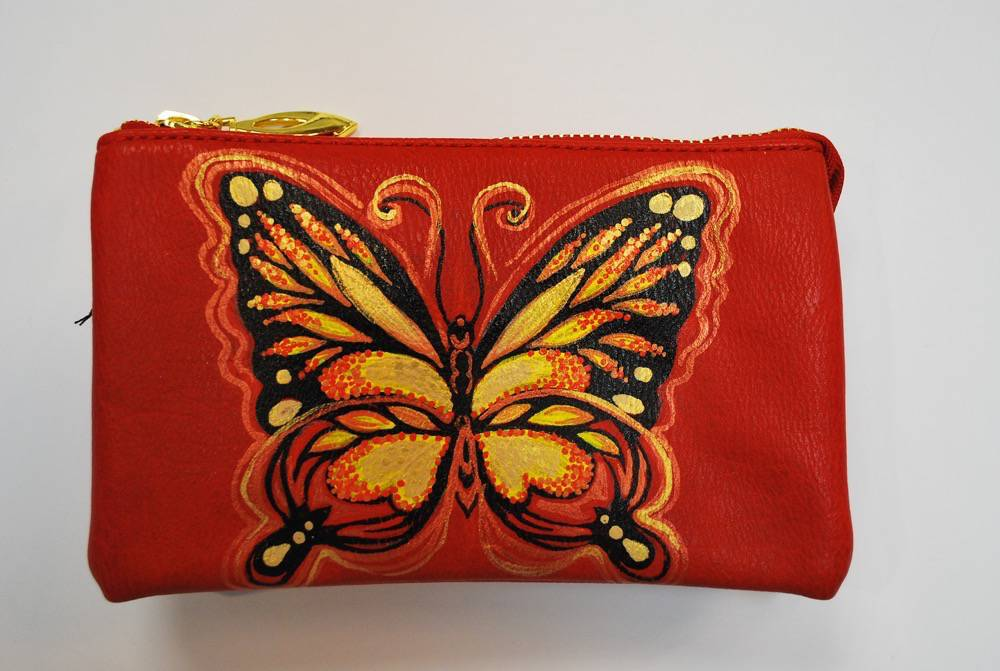 Custom Painted Monarch Butterfly Purse