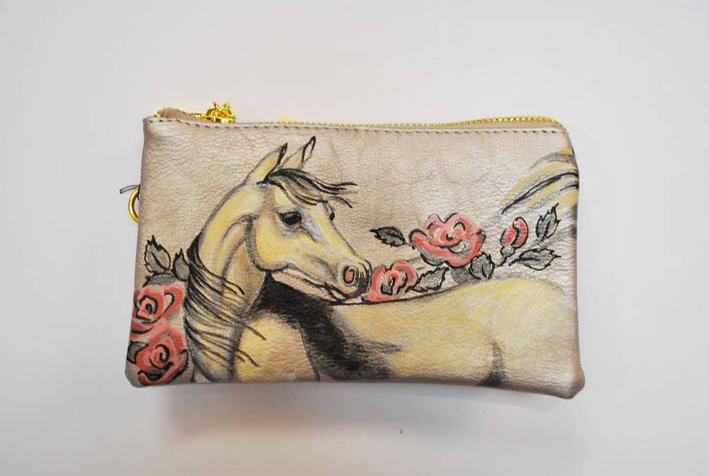 Custom Hand Painted Horse Purse