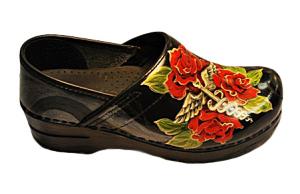 Hand Painted Healing Rose Footwear