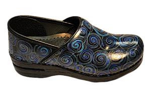 Custom Hand Painted Blue Footwear