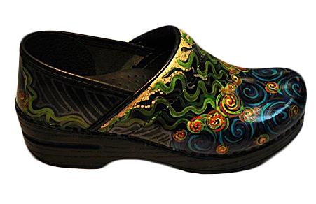 Hand Painted Multi Colored Footwear