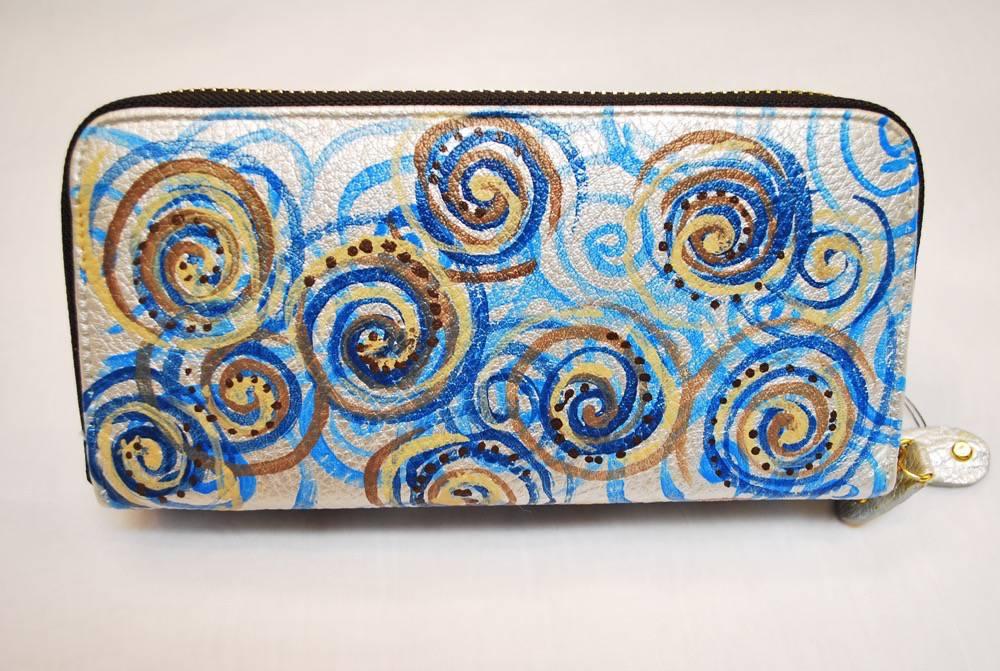 Custom Hand Painted Swirls Purse