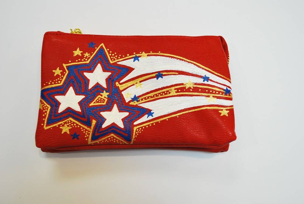 Stars and Stripes Custom Painted Purse