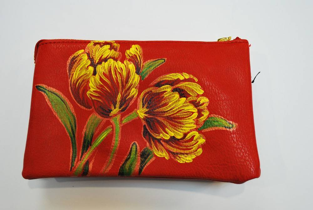 Custom Hand Painted Flower Purse