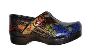 Limited Edition: Multi Gold Swirl Hand Painted Clogs