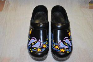 LIMITED EDITION DANSKO PROFESSIONAL HAND PAINTED CLOG - BABY FEET