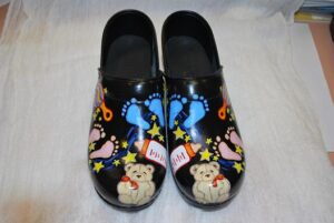 LIMITED EDITION DANSKO PROFESSIONAL HAND PAINTED CLOG - BABY THEME