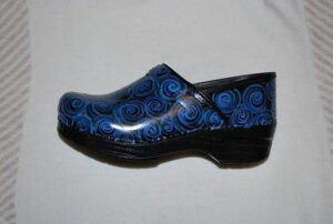 LIMITED EDITION DANSKO PROFESSIONAL HAND PAINTED CLOG - BLUE SWIRL