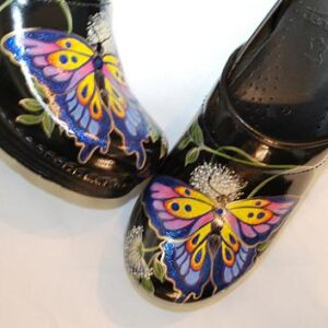 LIMITED EDITION DANSKO PROFESSIONAL HAND PAINTED CLOG - BUTTERFLY