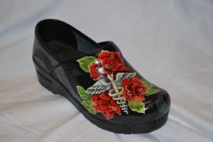 LIMITED EDITION DANSKO PROFESSIONAL HAND PAINTED CLOG - HEALING ROSE