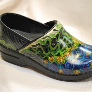 LIMITED EDITION DANSKO PROFESSIONAL HAND PAINTED CLOG - SQUIGGLY MULTI SWIR