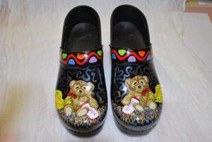 LIMITED EDITION DANSKO PROFESSIONAL HAND PAINTED CLOG - TEDDY BEAR